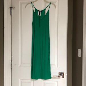 BCBG green tank dress -size Medium
